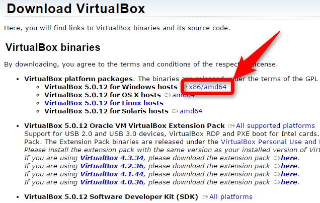 VirtualBox インストーラー ダウンロード