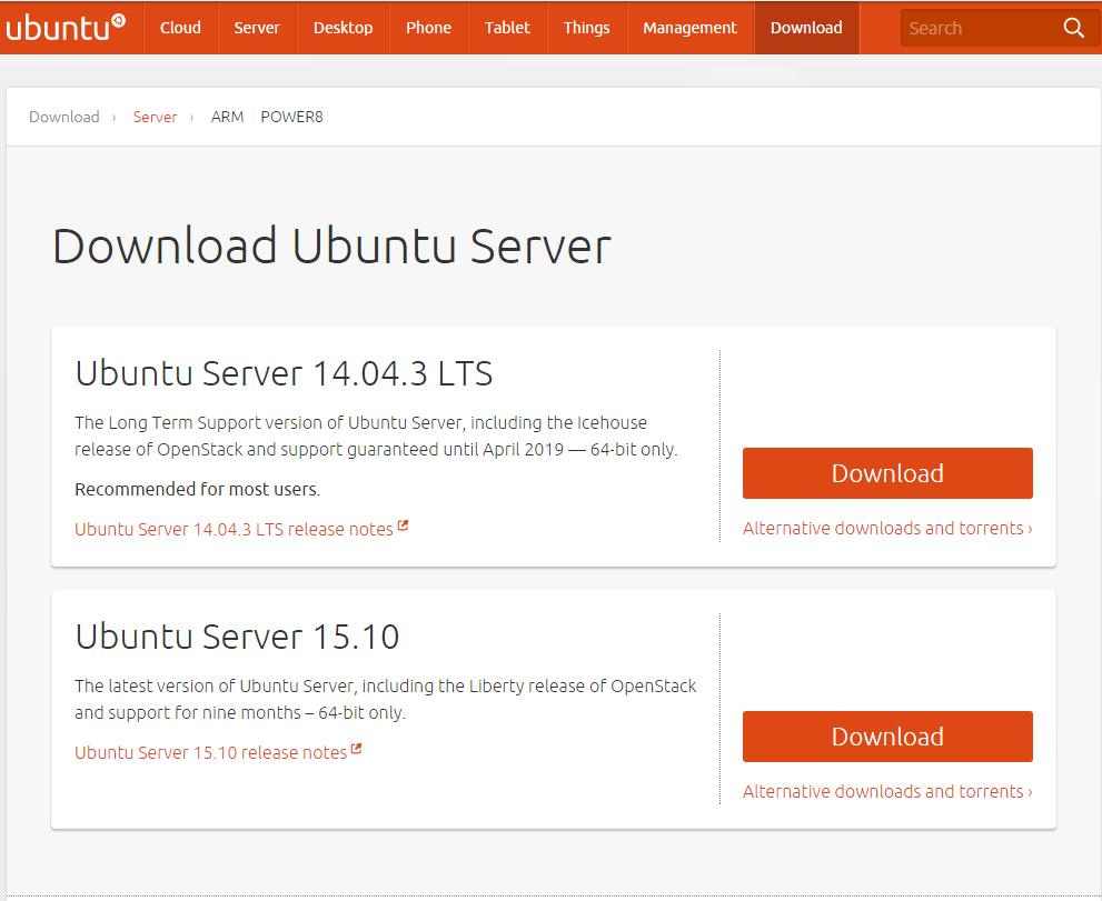 Ubuntu14.04LTS ダウンロード