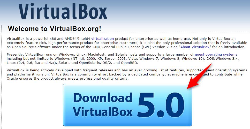 VirtualBox ダウンロード